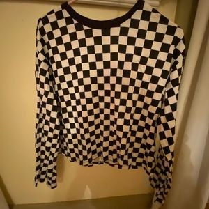 H&M LONG SLEEVE CHECKERED LONG SLEEVE